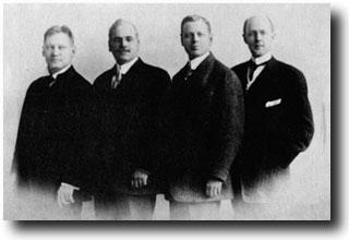 I quattro soci fondatori del Rotary Club
