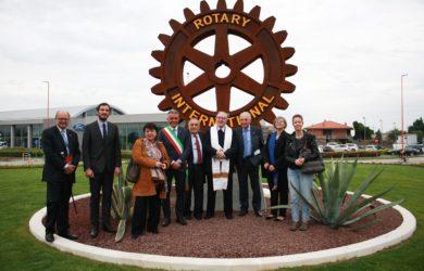 al centro il sindaco Palo Lucchi, Domenico Scarpellini, Mons. Piero Altieri e Gianluigi Trevisani