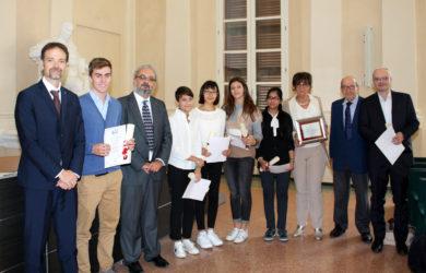 Premiazione dei ragazzi che hanno partecipato alle Giornate della Scienza di Venezia 2017