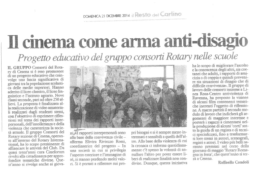 il cinema come arma anti-disagio