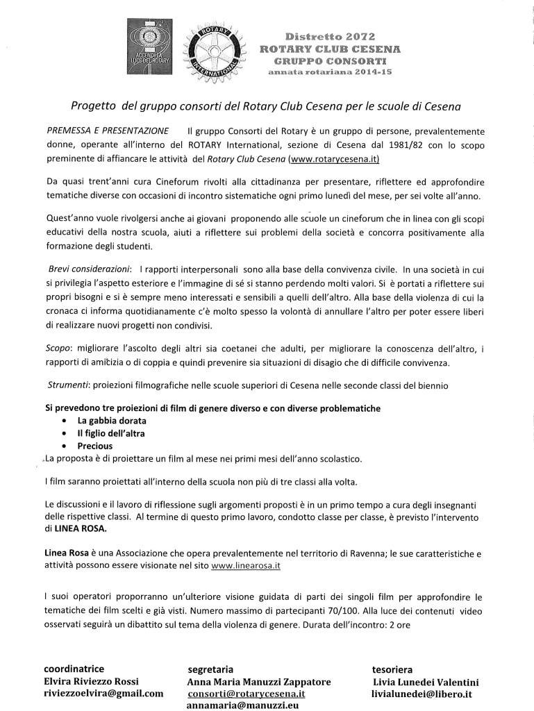 Gruppo Consorti - progetto per le scuole di Cesena