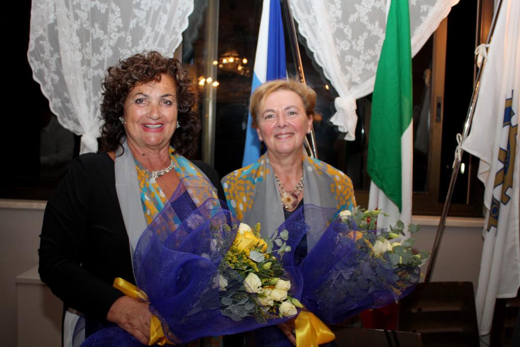 da sinistra Lidia Cappelli e Flavia consorte del Governatore