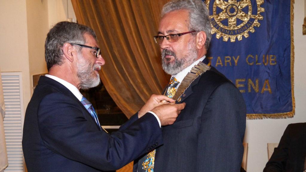 Paul Harris Fellow a Giorgio Babbini dal neo Governatore Paolo Bolzani