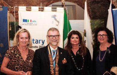 da sinistra, Maria Giovanna Giorgetti, Paolo Bolzani, Ester Castagnoli, Chiara Bissi Bolzani