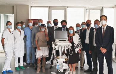 I Rotary club dell'area Romagna Centro donano un ecografo di ultima generazione all'ospedale Bufalini