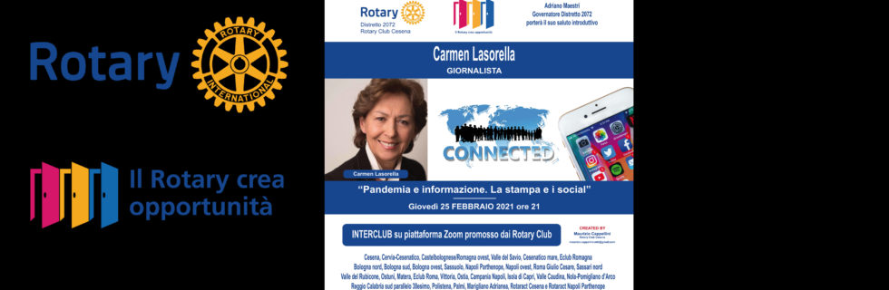 Rotary Club Cesena - Interclub online con Carmen Lasorella - FEBBRAIO 2021