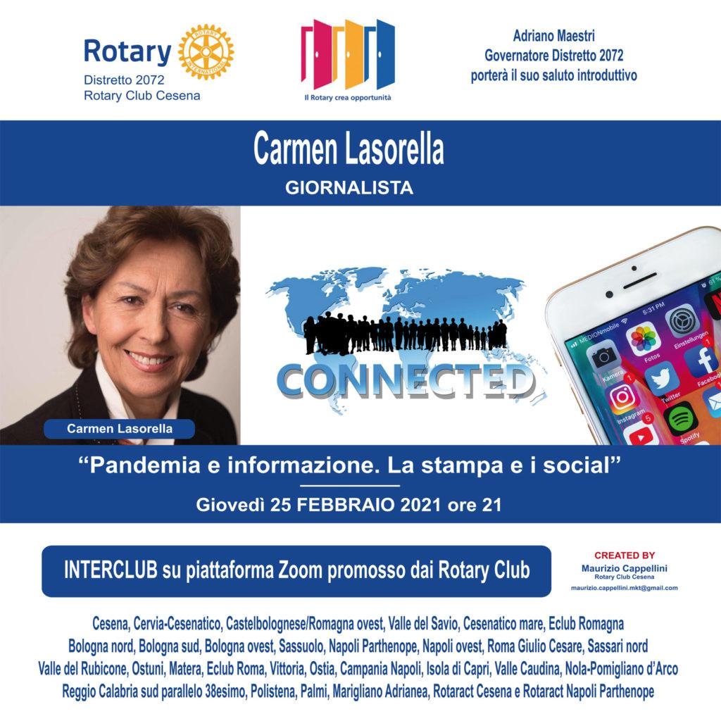 Al Rotary la giornalista Carmen Lasorella_FEBBRAIO 2021